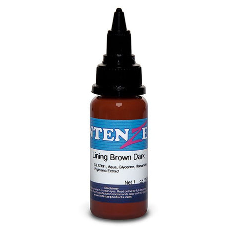Intenze Tattoo Ink - Lining Brown Dark - Pick Size
