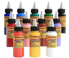 Eternal Tattoo Ink - Sample Color Set of 12 - 2oz Bottles