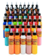 Eternal Tattoo Ink - Full 50 Color Set - 1/2oz Bottles