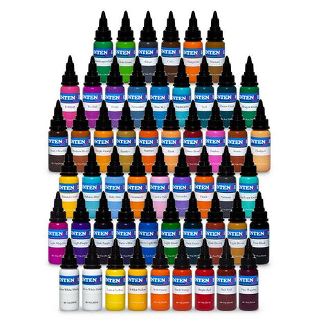 54 Color Set — Intenze Tattoo Ink — 1oz Bottles