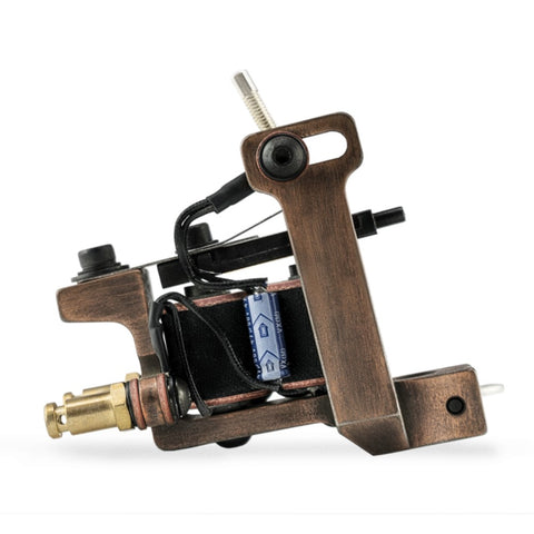 HM Mini Dietzel Liner Antique Copper Finished Coil Tattoo Machine (Main)