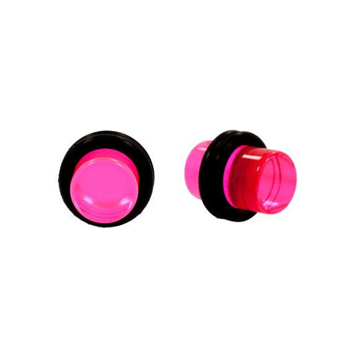 Solid PINK Acrylic UV Plugs with Double O-Rings