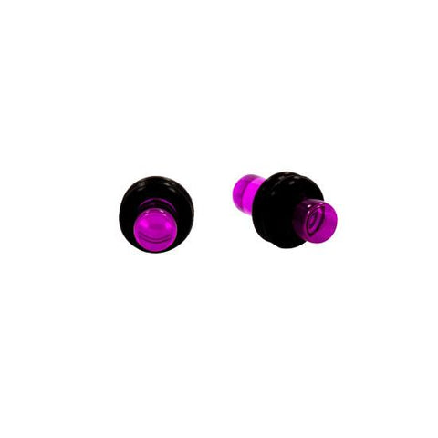 Solid VIOLET Acrylic UV Plugs with Double O-Rings