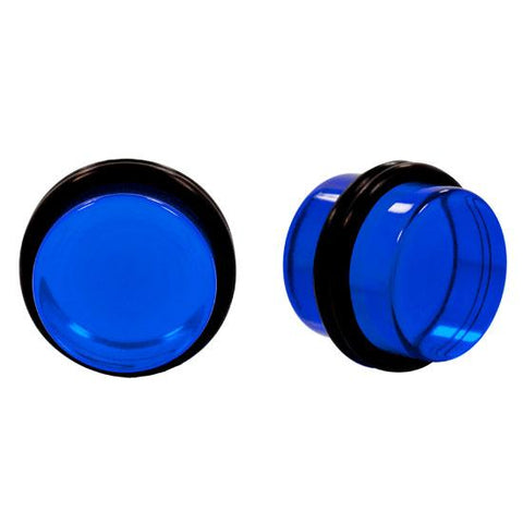 Solid BLUE Acrylic UV Plugs with Double O-Rings