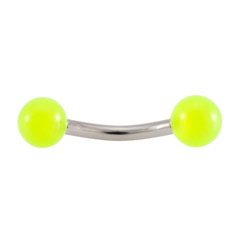14g Curved Glow in the Dark Barbell