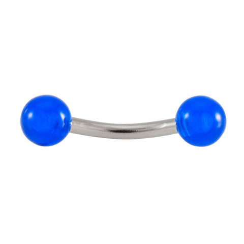 14g Curved Translucent Ball Barbell