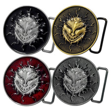 Unisex Flaming Sun Solar Flare Evil Grin Belt Buckle
