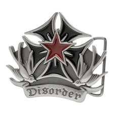 "Buckle Rage Silver Sparrows ""Disorder"" Iron Cross Belt Buckle"