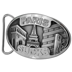 PARIS SUCKS Rhinestone Funny Belt Buckle Wholesale