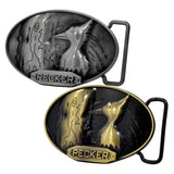 Mens 3D Wood Pecker Bird Pun Funny Belt Buckle Oval