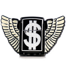 Money $ Black Wings Lighter Belt Buckle