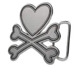 Sexy Heart Crossbones Wholesale Belt Buckle