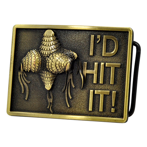 Mens I'd Hit It Pinata Tassel Funny Humor Belt Buckle