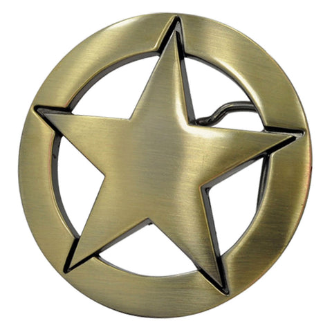 Unisex Deputy Ranger Star Badge Vintage Western Belt Buckle