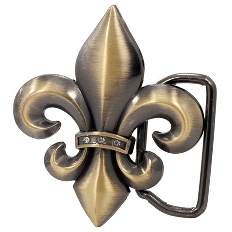 Unisex Fleur de Lis French Symbol Belt Buckle  Color