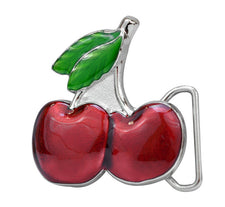 Sexy Enamel Cherries Belt Buckle Girly Cherry Design