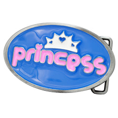 Blue and Pink Princess Belt Buckle Crown Funny Cute