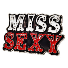 MISS SEXY Enamel Painted Belt Buckle Cute Girly