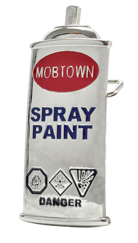GRAFFITI Spray Paint Can Silver Funny Polished Metal Belt Buckle
