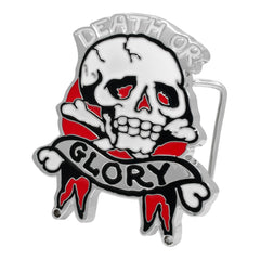 Death or Glory Skull & Crossbones Belt Buckle Miltary Biker Army