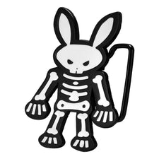 Evil Skeleton Bunny Rabbit Novelty Belt Buckle Skull and Bones