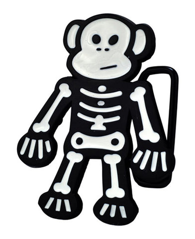 Skeleton Monkey Belt Buckle Scary Animal Halloween Unique