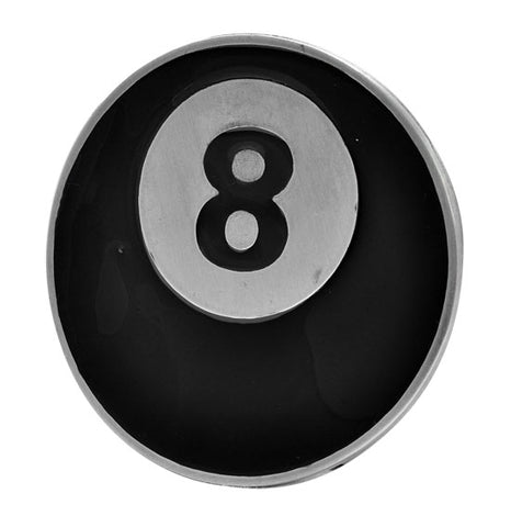 8 Ball Belt Buckle Painted Black