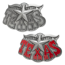 "Buckle Rage ""Lone Star Texas"" Decorative Belt Buckle Snap On Western Unique"