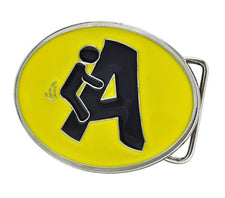 F***ing A Clever Graphic Yellow Belt Buckle Humor FUNNY Joke