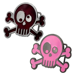 Women's Silly Joke Skull and Crossbones Funny Skeleton Belt Buckle