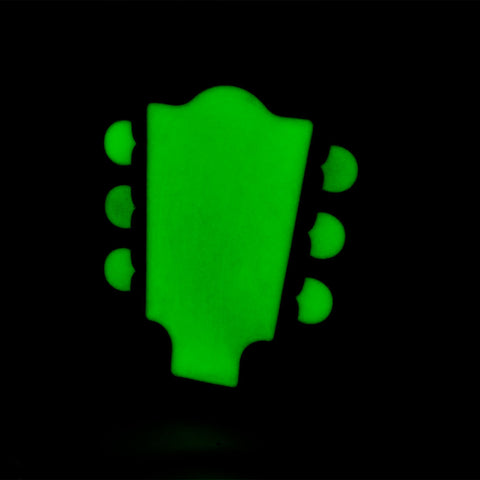Buckle Rage Men's Guitar Headstock Glow In The Dark Music Instrument Belt Buckle