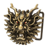 Buckle Rage Dragon Head with Pearl Snap On Belt Buckle Chinese Mythology