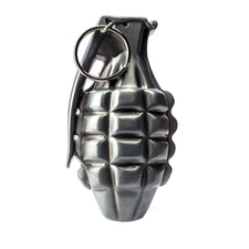 "Single | Buckle Rage | Belt Buckle | 3D Grenade  | Silver | Large 4.25"" L x 2.50"" H"