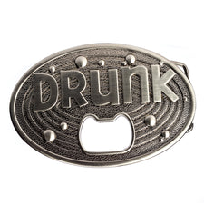 "Belt Buckle ""Drunk"" Bottle opener 