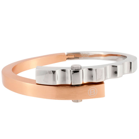 Bold Stainless Steel and Copper Plated Battalion Cuff Bracelet