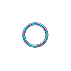 Green and Pink Anodized Titanium Segment Rings CBR