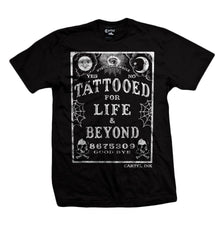 Cartel Ink Men's Black Cotton T-Shirt Tattooed For Life & Beyond