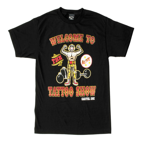 Cartel Ink Welcome to the Tattoo Show Men's Black Crew T-Shirt