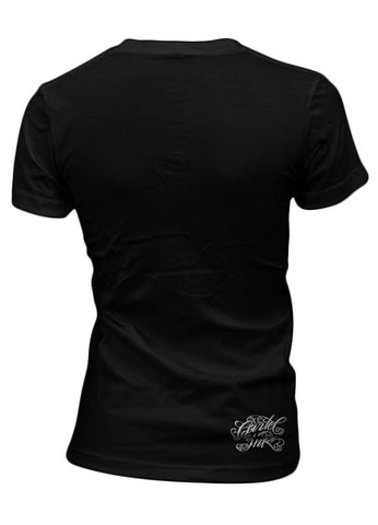 Cartel Ink TATTOOS ARE A GIRLS BEST FRIEND Women's Black T-Shirt