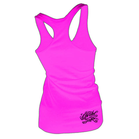 Cartel Ink Tattoo Machine Women's Pink Tank Top Shirt