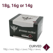 Curved Precision Piercing Needles  - Box of 50