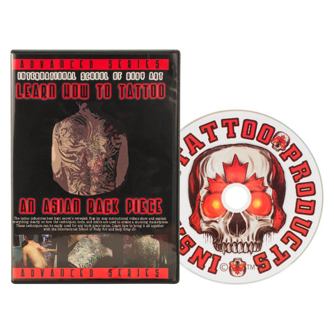 6 Hour Professional Asian Back Piece Tattoo Course on DVD