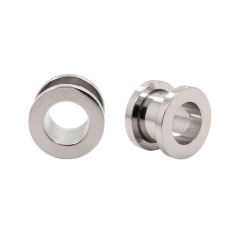 Stainless Steel Screw On Hollow Earlet Plugs Tunnels
