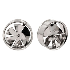 Spinner Fan Stainless Steel Ear Tunnels Plugs Spinning Rims