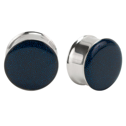 Blue Bead Double Flare Plug PAIR