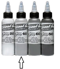 Eternal Tattoo Ink - Neutral Gray 40 - 1oz bottle