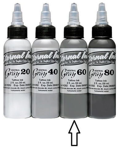 Eternal Tattoo Ink - Neutral Gray 60 - 1oz Bottle
