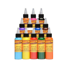 Eternal Tattoo Ink - Sample Color Set of 12 - 4oz Bottles