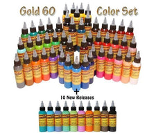 Eternal Tattoo Ink - Gold Set - 60 Color Set  - 1oz Bottles