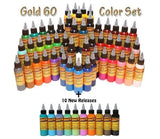 Eternal Tattoo Ink - Gold Set - 60 Color Set  - 2oz Bottles
